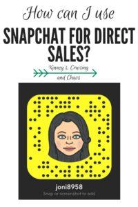 #Snapchat #directsales #smallbusiness