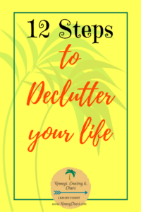 12 Steps to declutter your life #lifehack #declutter #clutter #cleanup #hometips #cleaningtips #helpful