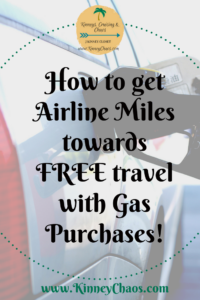 Find out how to earn airline miles towards FREE travel with Gas purchases! #gas #cheapflights #travel #lifehack #travelhack
