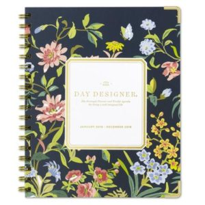 Navy Floral Day Planner for the women who say they want nothing. #empowering #goals #planner #dayplanner #lifegoals